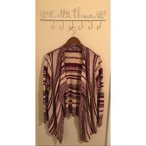 Stripped Sweater Cardigan